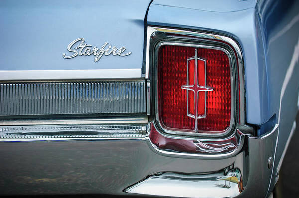Photograph - 1965 Oldsmobile Starfire Taillight Emblem by Jill Reger