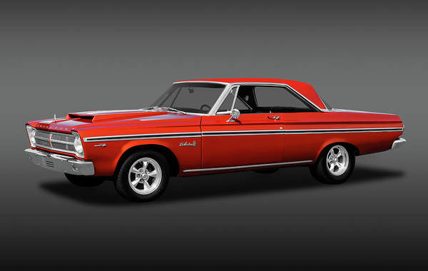 Mag Wheels Wall Art - Photograph - 1965 Plymouth Belvedere II Hardtop  -  1965plymouthbelviifa170926 by Frank J Benz