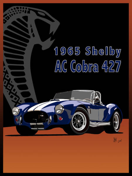 Ac Cobra Wall Art - Digital Art - 1965 Shelby Ac Cobra 427 by Ian Mutton