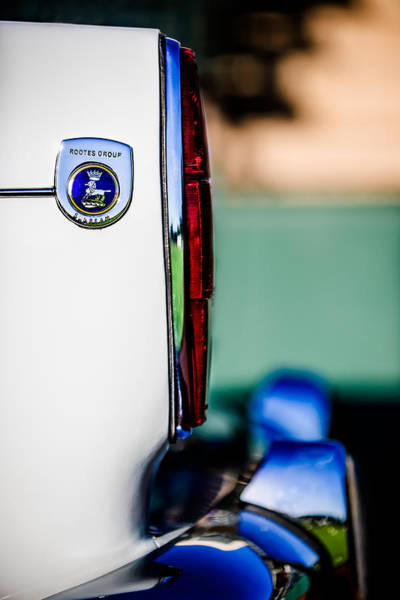 Photograph - 1965 Sunbeam Tiger Taillight Emblem -1009c by Jill Reger