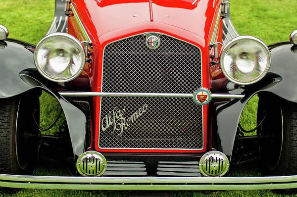 Auto Show Photograph - 1966 Alfa Romeo Quattro Route 4r Grille by Jill Reger