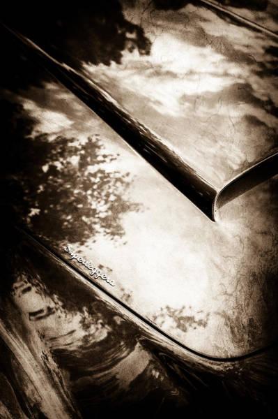 Wall Art - Photograph - 1966 Aston Martin Db6 Hood -0434s by Jill Reger