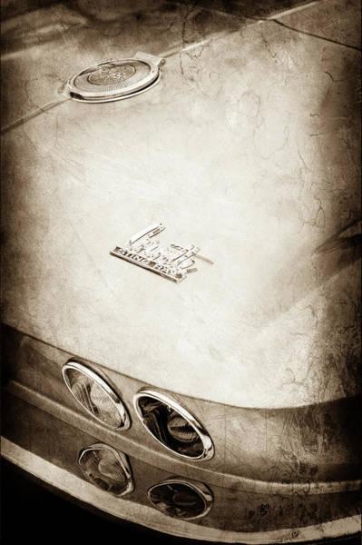 Wall Art - Photograph - 1966 Chevrolet Corvette Taillight Emblem -0409s by Jill Reger