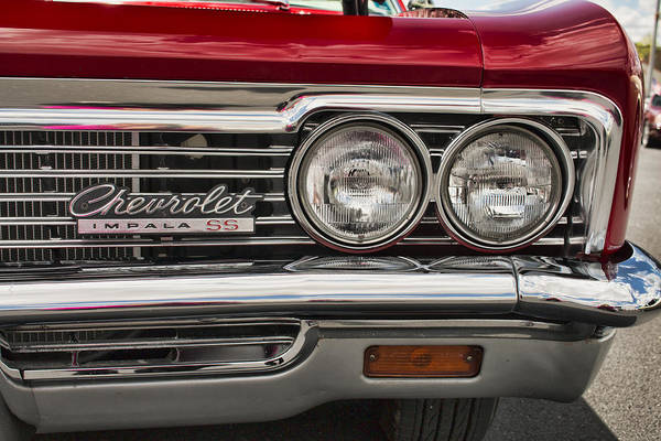 Photograph - 1966 Chevy Impala Ss Grill by Kristia Adams