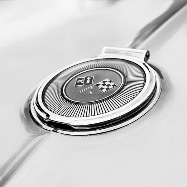 American Muscle Car Photograph - 1966 Corvette Stingray Convertible Gas Cap by Jon Woodhams
