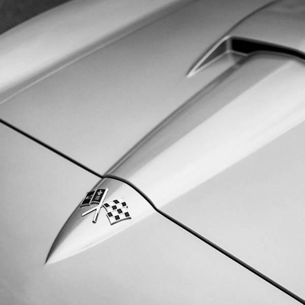 American Muscle Photograph - 1966 Corvette Stingray Hood by Jon Woodhams