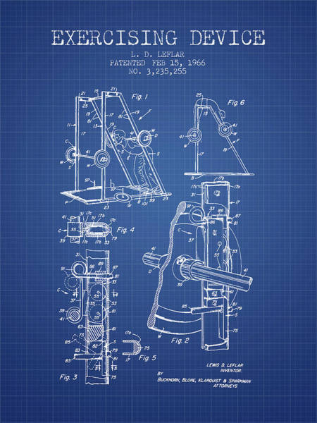 1966 Exercising Device Patent Spbb05_bp Art Print