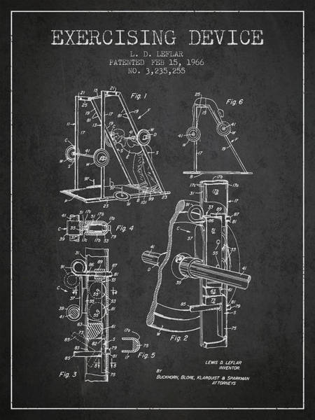 1966 Exercising Device Patent Spbb05_cg Art Print