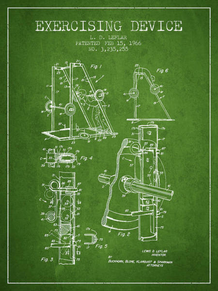 1966 Exercising Device Patent Spbb05_pg Art Print