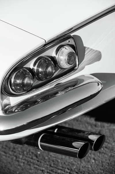 Wall Art - Photograph - 1966 Ferrari 500 Superfast Series II Tail Lights -1181bw by Jill Reger