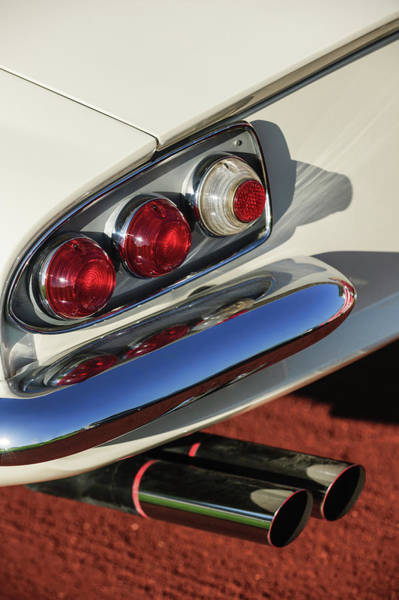 Wall Art - Photograph - 1966 Ferrari 500 Superfast Series II Tail Lights -1181c by Jill Reger