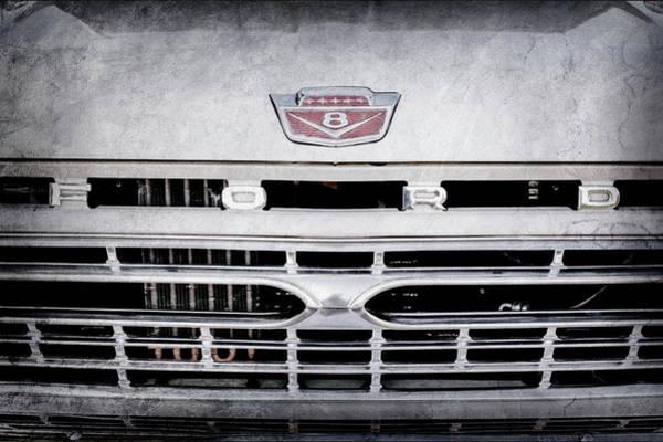Wall Art - Photograph - 1966 Ford F100 Grille Emblem -113ac by Jill Reger