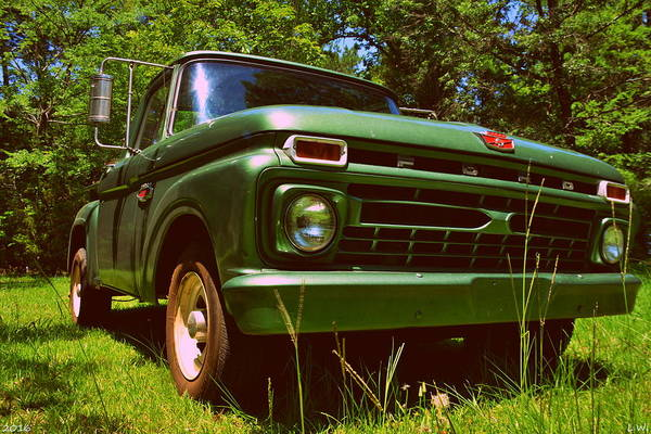 Photograph - 1966 Ford F100 by Lisa Wooten