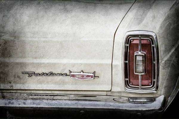 Wall Art - Photograph - 1966 Ford Fairlane Xl Taillight Emblem -0425ac by Jill Reger