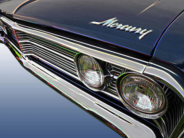 Photograph - 1966 Ford Mercury Hood Grille And Headlights by Gill Billington