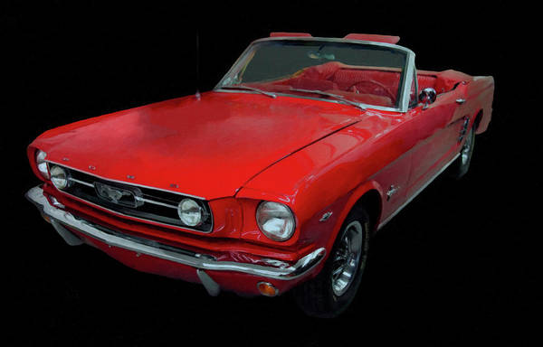 Painting - 1966 Ford Mustang Convertible Digital Art by Chris Flees