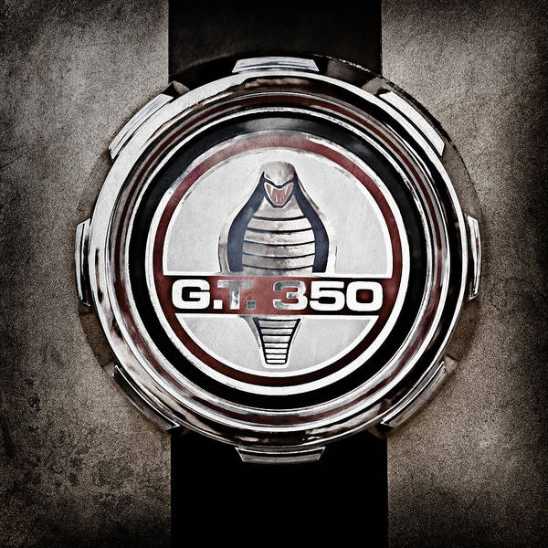 Wall Art - Photograph - 1966 Ford Mustang Convertible Gt 350 Cobra Emblem -0328ac by Jill Reger