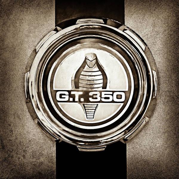 Wall Art - Photograph - 1966 Ford Mustang Convertible Gt 350 Cobra Emblem -0328s by Jill Reger