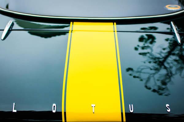 Photograph - 1966 Lotus Elan S3 Fhc Coupe Rear Emblem -1234c by Jill Reger