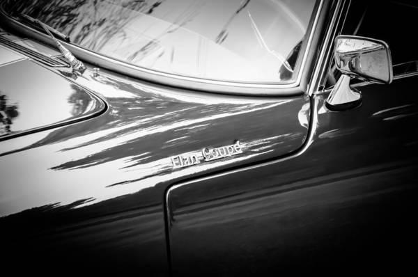 Wall Art - Photograph - 1966 Lotus Elan S3 Fhc Coupe Side Emblem -1227bw by Jill Reger