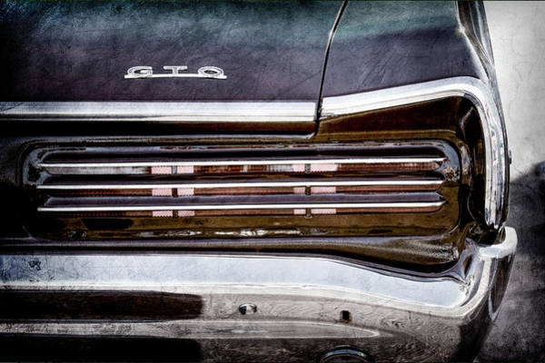 Wall Art - Photograph - 1966 Pontiac Gto Taillight Emblem -0138ac by Jill Reger