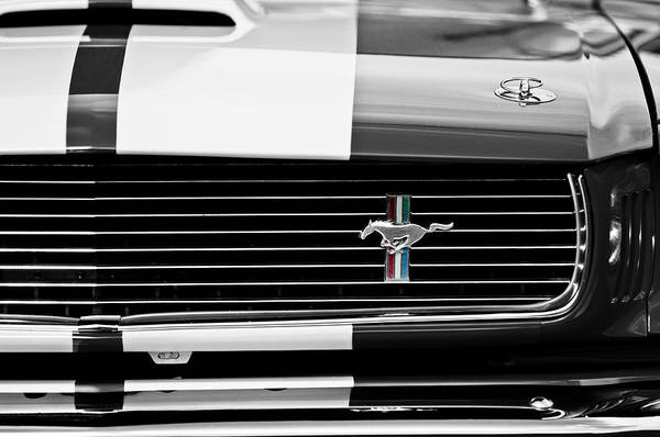 Grilles Photograph - 1966 Shelby Gt350 Grille Emblem by Jill Reger