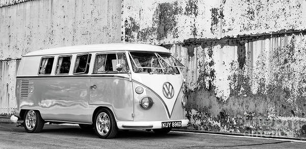 Wall Art - Photograph - 1966 Split Screen Vw Campervan Monochrome by Tim Gainey