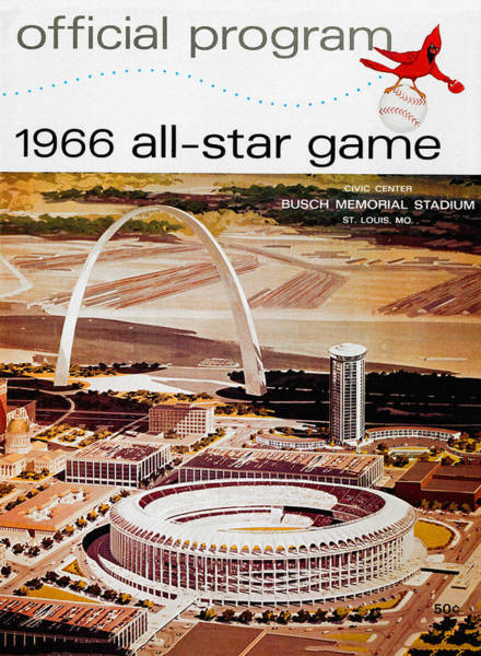 St Louis Arch Painting - 1966 St. Louis Baseball All-star Game by John Farr