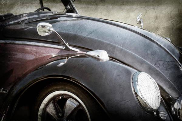 Wall Art - Photograph - 1966 Volkswagen Vw Convertible -0180ac by Jill Reger