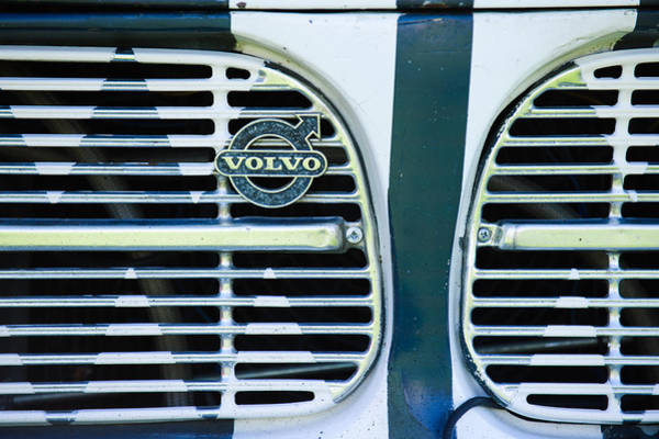 Photograph - 1966 Volvo Amazon 122s Grille Emblem -1505c by Jill Reger
