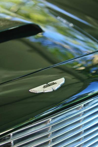 1967 Photograph - 1967 Aston Martin Db6 Coupe Hood Emblem by Jill Reger