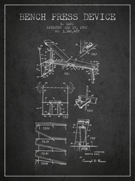 1967 Bench Press Device Patent Spbb06_cg Art Print