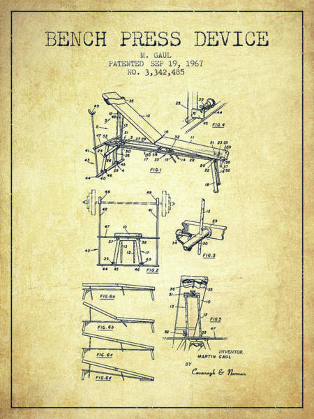 1967 Bench Press Device Patent Spbb06_vn Art Print