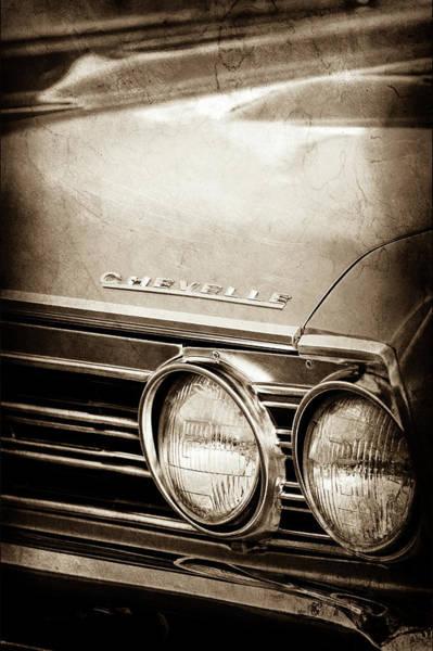Photograph - 1967 Chevrolet Chevelle Ss Super Sport Emblem -0413s by Jill Reger