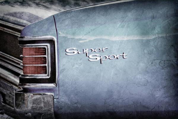 Photograph - 1967 Chevrolet Chevelle Ss Super Sport Taillight Emblem -0288ac by Jill Reger