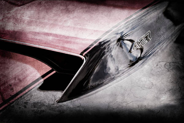 Wall Art - Photograph - 1967 Chevrolet Corvette 427 Hood Emblem -0203ac by Jill Reger