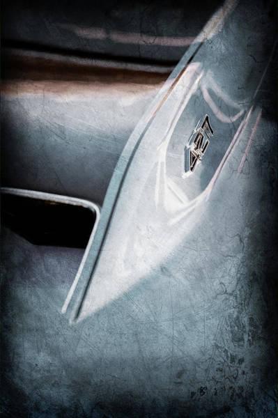 Wall Art - Photograph - 1967 Chevrolet Corvette 427 Hood Emblem -0325ac by Jill Reger