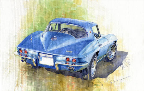 Wall Art - Painting - 1967 Chevrolet Corvette C2 Stingray  by Yuriy Shevchuk