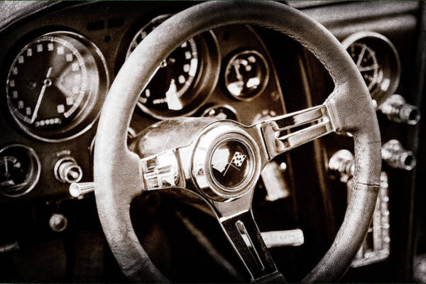 Photograph - 1967 Chevrolet Corvette Steering Wheel Emblem -0219s by Jill Reger