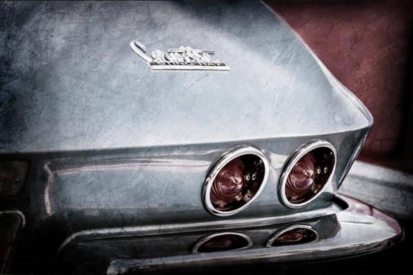 Wall Art - Photograph - 1967 Chevrolet Corvette Taillight -0481ac by Jill Reger