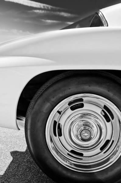 Photograph - 1967 Chevrolet Corvette Wheel -295bw by Jill Reger