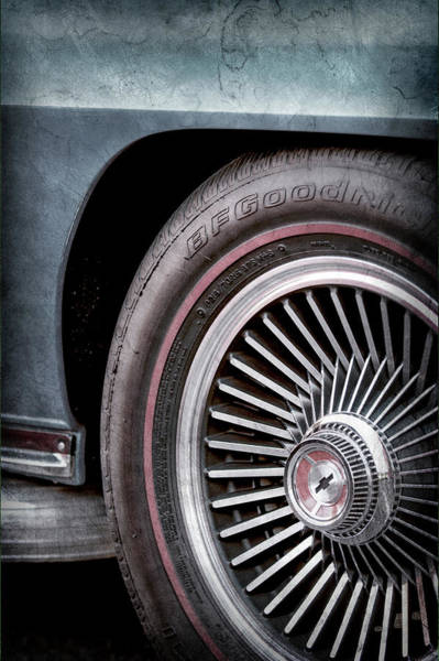 Wall Art - Photograph - 1967 Chevrolet Corvette Wheel Emblem -0351ac by Jill Reger