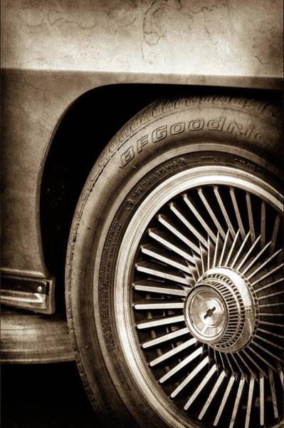 Wall Art - Photograph - 1967 Chevrolet Corvette Wheel Emblem -0351s by Jill Reger