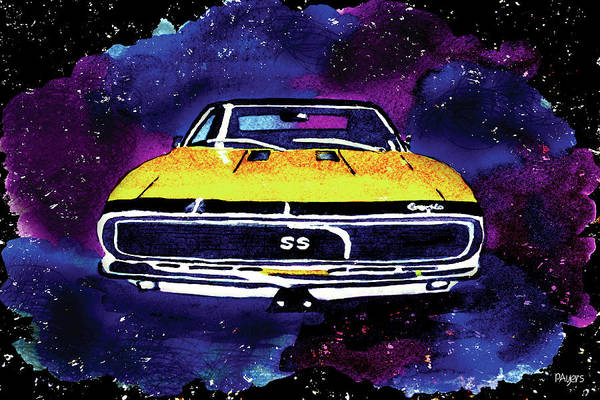 Wall Art - Painting - 1967 Chevy Camaro Ss by Paula Ayers