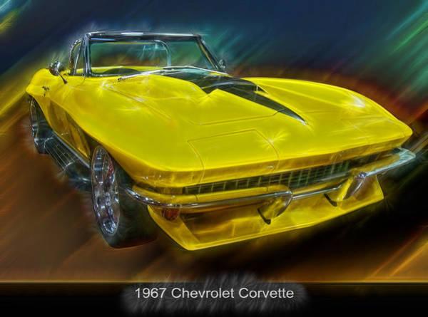 Digital Art - 1967 Chevy Corvette Electric by Chris Flees