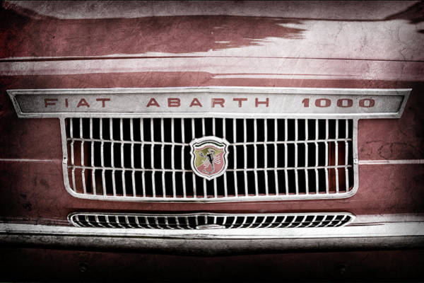 Otr Wall Art - Photograph - 1967 Fiat Abarth 1000 Otr Grille Emblem -0588ac by Jill Reger