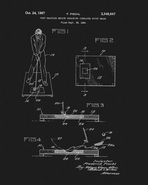 Drawing - 1967 Golf Practice Patent by Dan Sproul