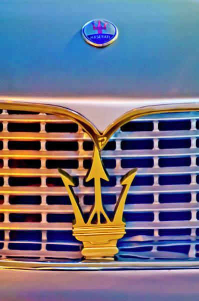 Photograph - 1967 Maserati Sebring Coupe Emblem by Jill Reger