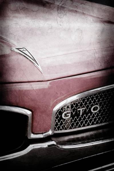 Photograph - 1967 Pontiac Gto Grille Emblem -0438ac by Jill Reger