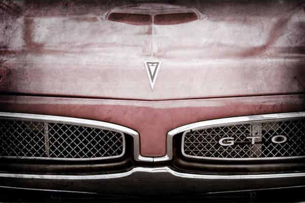 Photograph - 1967 Pontiac Gto Grille Emblem - Hood Emblem -0448ac by Jill Reger